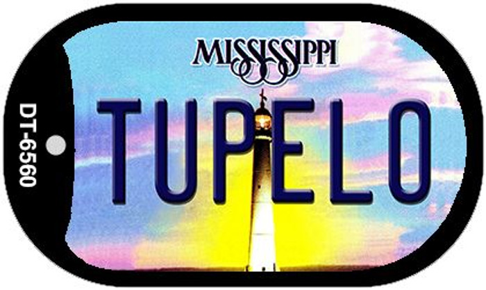 Tupelo Mississippi Novelty Metal Dog Tag Necklace DT-6560