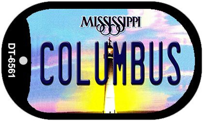 Columbus Mississippi Novelty Metal Dog Tag Necklace DT-6561