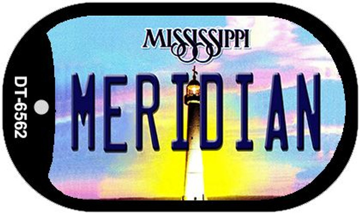 Meridian Mississippi Novelty Metal Dog Tag Necklace DT-6562