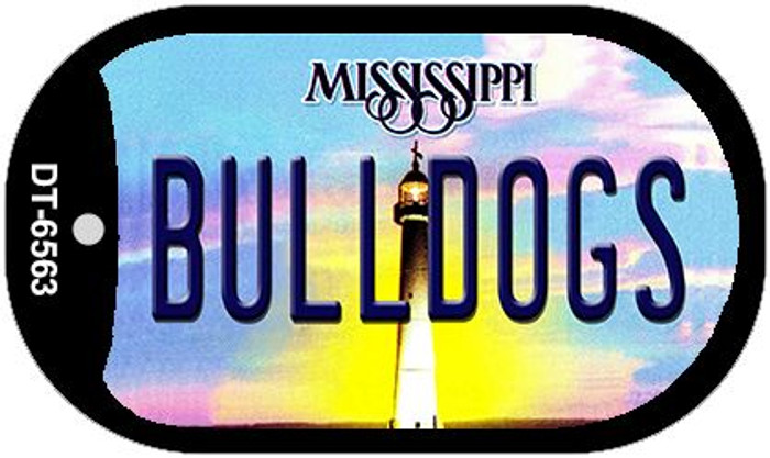 Bulldogs Mississippi Novelty Metal Dog Tag Necklace DT-6563