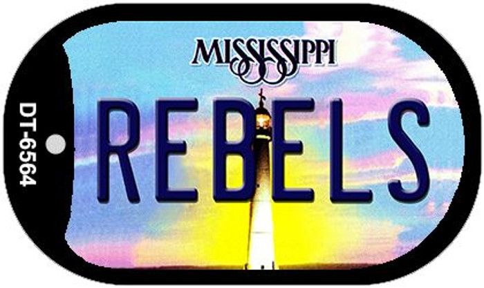 Rebels Mississippi Novelty Metal Dog Tag Necklace DT-6564