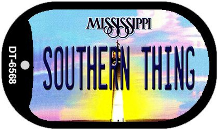 Southern Thing Mississippi Novelty Metal Dog Tag Necklace DT-6568