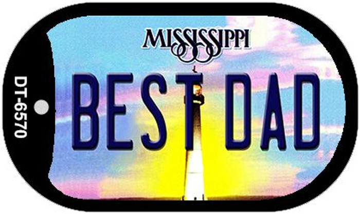 Best Dad Mississippi Novelty Metal Dog Tag Necklace DT-6570
