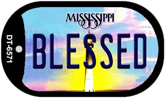 Blessed Mississippi Novelty Metal Dog Tag Necklace DT-6571