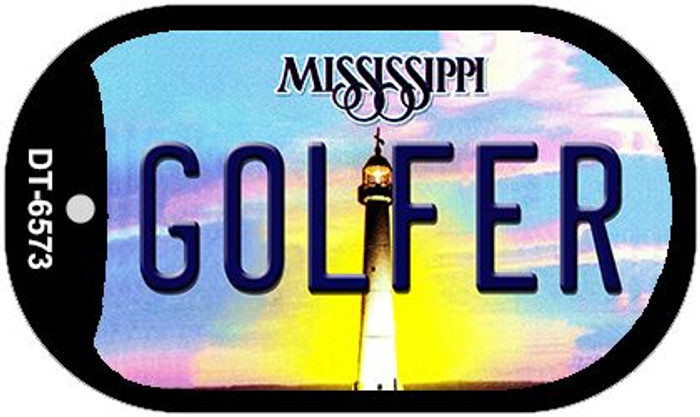 Golfer Mississippi Novelty Metal Dog Tag Necklace DT-6573