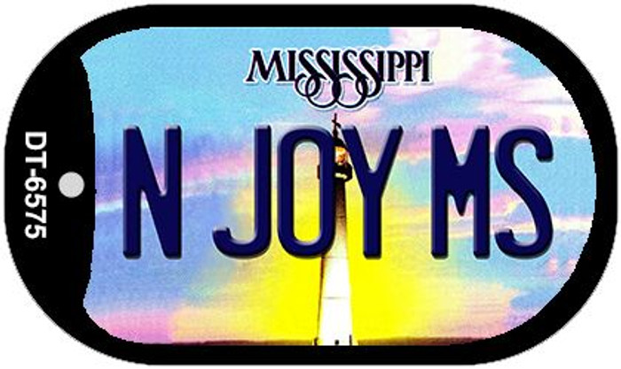 N Joy MS Mississippi Novelty Metal Dog Tag Necklace DT-6575