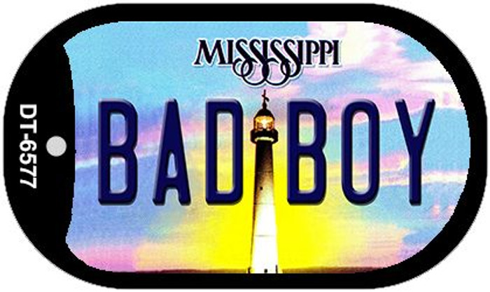 Bad Boy Mississippi Novelty Metal Dog Tag Necklace DT-6577