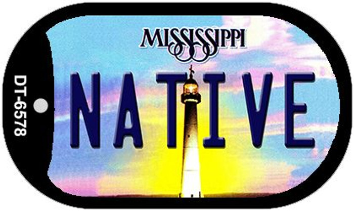 Native Mississippi Novelty Metal Dog Tag Necklace DT-6578