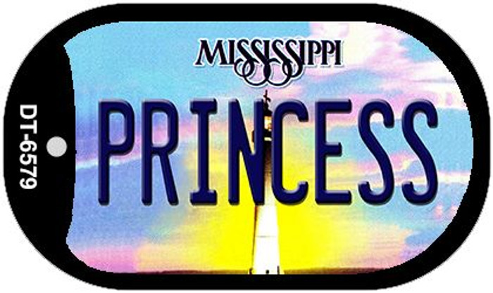 Princess Mississippi Novelty Metal Dog Tag Necklace DT-6579