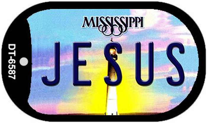 Jesus Mississippi Novelty Metal Dog Tag Necklace DT-6587