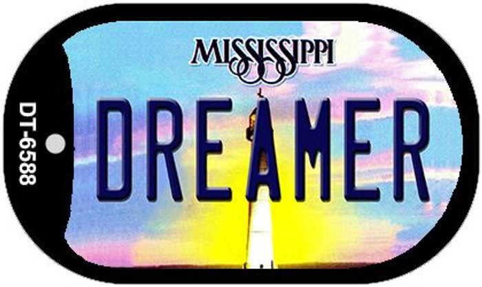 Dreamer Mississippi Novelty Metal Dog Tag Necklace DT-6588