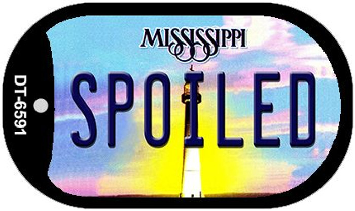 Spoiled Mississippi Novelty Metal Dog Tag Necklace DT-6591