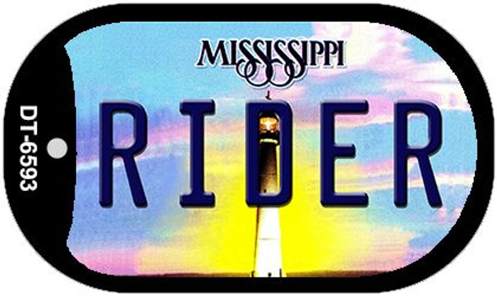 Rider Mississippi Novelty Metal Dog Tag Necklace DT-6593
