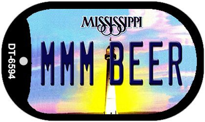 MMM Beer Mississippi Novelty Metal Dog Tag Necklace DT-6594