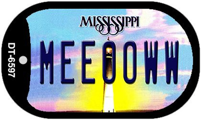 Meeooww Mississippi Novelty Metal Dog Tag Necklace DT-6597