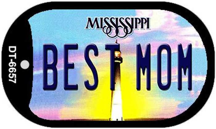 Best Mom Mississippi Novelty Metal Dog Tag Necklace DT-6657