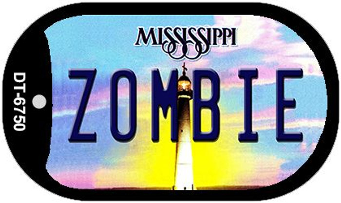 Zombie Mississippi Novelty Metal Dog Tag Necklace DT-6750