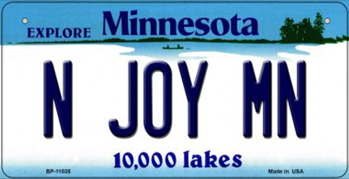 N Joy MN Minnesota Novelty Metal Bicycle Plate BP-11035