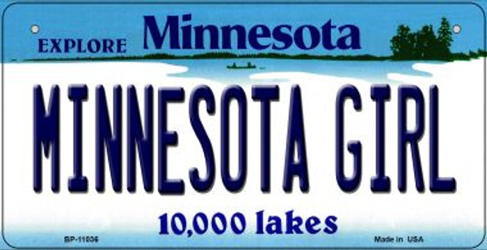 Minnesota Girl Novelty Metal Bicycle Plate BP-11036