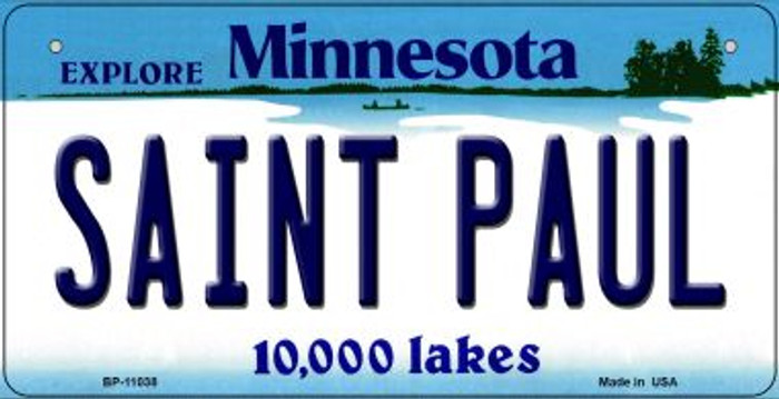Saint Paul Minnesota Novelty Metal Bicycle Plate BP-11038
