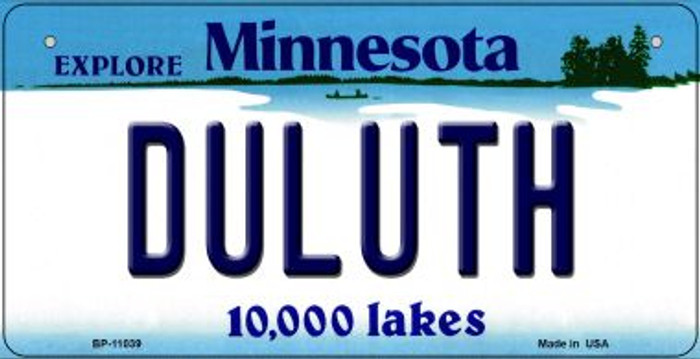 Duluth Minnesota Novelty Metal Bicycle Plate BP-11039