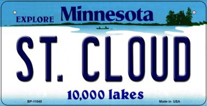 St Cloud Minnesota Novelty Metal Bicycle Plate BP-11040