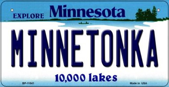 Minnetonka Minnesota Novelty Metal Bicycle Plate BP-11041