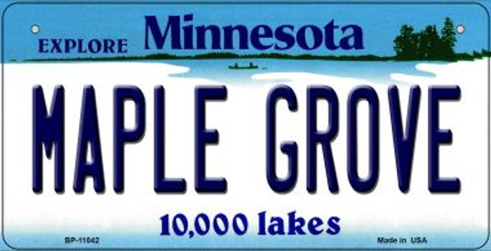 Maple Grove Minnesota Novelty Metal Bicycle Plate BP-11042