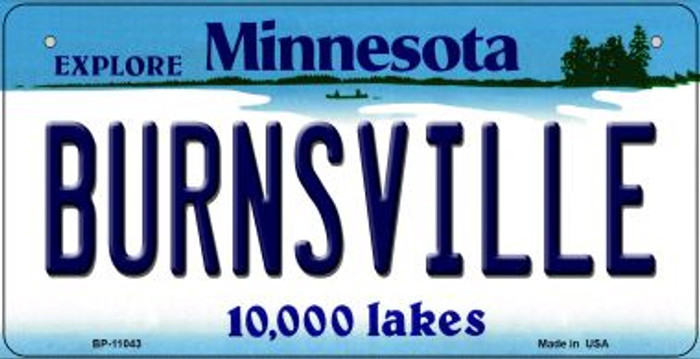 Burnsville Minnesota Novelty Metal Bicycle Plate BP-11043