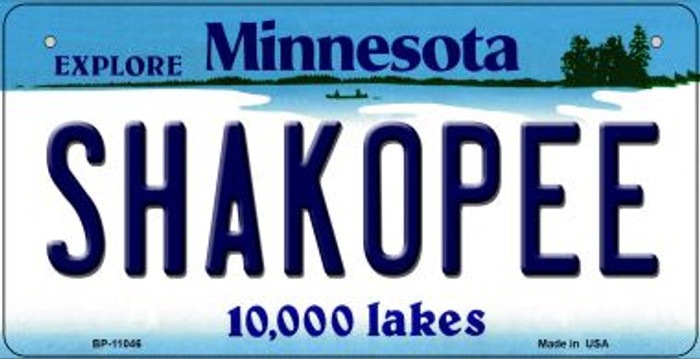 Shakopee Minnesota Novelty Metal Bicycle Plate BP-11046
