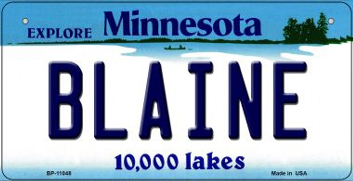 Blaine Minnesota Novelty Metal Bicycle Plate BP-11048