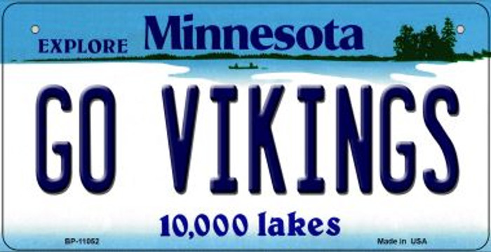 Go Vikings Minnesota Novelty Metal Bicycle Plate BP-11052