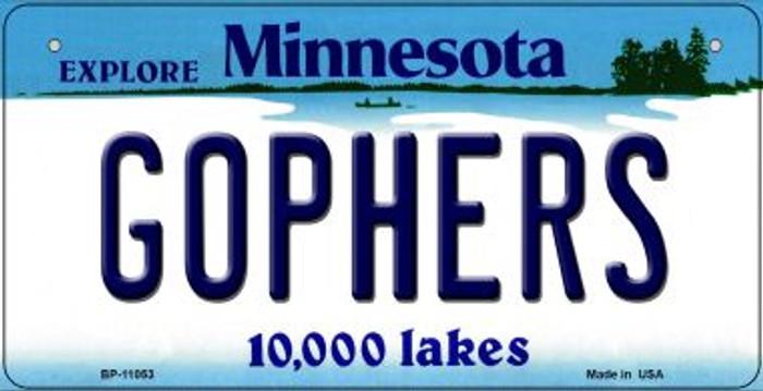 Gophers Minnesota Novelty Metal Bicycle Plate BP-11053