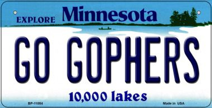 Go Gophers Minnesota Novelty Metal Bicycle Plate BP-11054