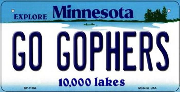 Go Gophers Minnesota Novelty Metal Bicycle Plate BP-11054