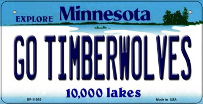 Go Timberwolves Minnesota Novelty Metal Bicycle Plate BP-11055