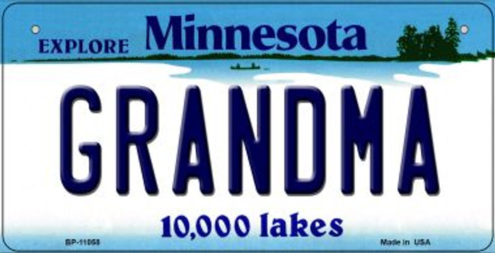 Grandma Minnesota Novelty Metal Bicycle Plate BP-11058