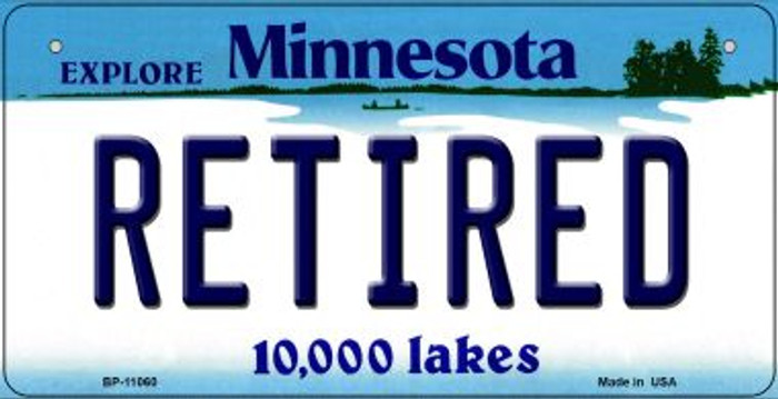 Retired Minnesota Novelty Metal Bicycle Plate BP-11060
