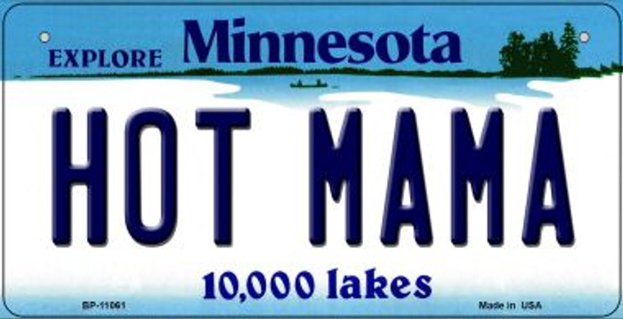 Hot Mama Minnesota Novelty Metal Bicycle Plate BP-11061