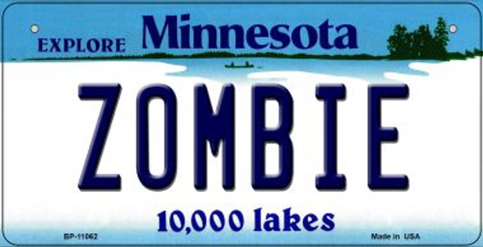Zombie Minnesota Novelty Metal Bicycle Plate BP-11062