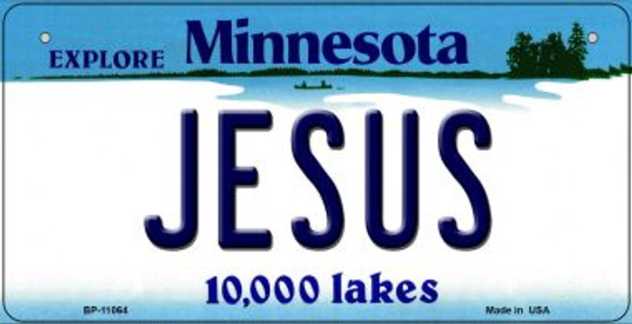 Jesus Minnesota Novelty Metal Bicycle Plate BP-11064