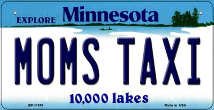 Moms Taxi Minnesota Novelty Metal Bicycle Plate BP-11070