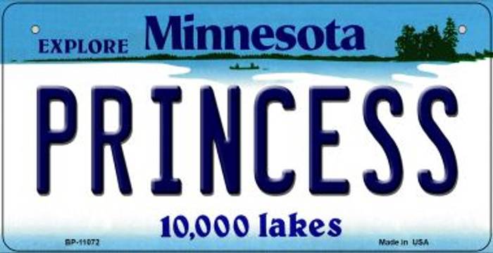Princess Minnesota Novelty Metal Bicycle Plate BP-11072