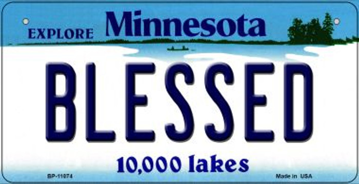 Blessed Minnesota Novelty Metal Bicycle Plate BP-11074