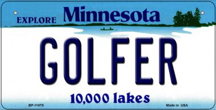 Golfer Minnesota Novelty Metal Bicycle Plate BP-11075