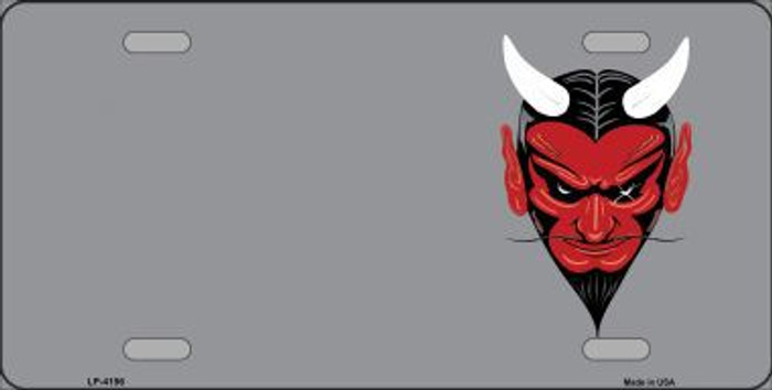 Devil Offset Metal Novelty License Plate LP-4196