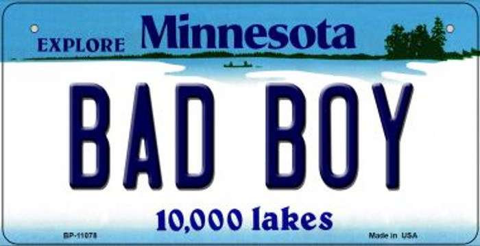 Bad Boy Minnesota Novelty Metal Bicycle Plate BP-11078