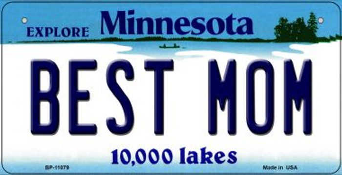 Best Mom Minnesota Novelty Metal Bicycle Plate BP-11079