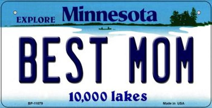 Best Mom Minnesota Novelty Metal Bicycle Plate BP-11079