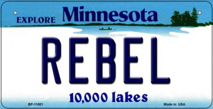 Rebel Minnesota Novelty Metal Bicycle Plate BP-11081